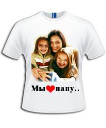 напечатать фото на футболке